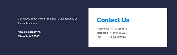 Contrast address design Website Builder Software