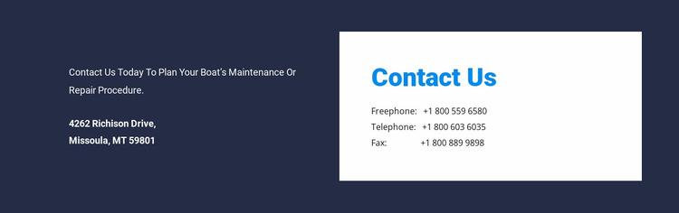 Contrast address design Website Mockup