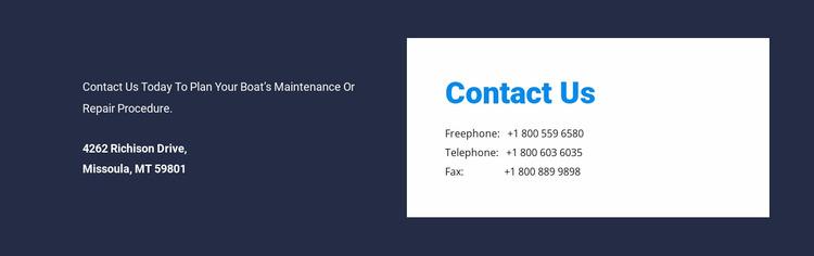 Contrast address design WordPress Website Builder