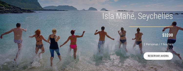 Viajar a la isla de Seychelles Plantilla de sitio web