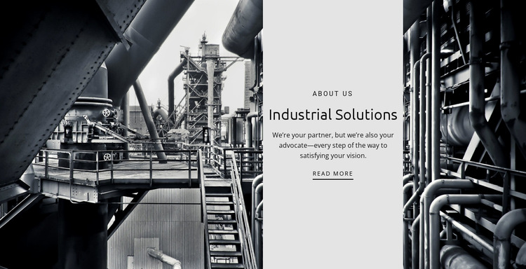 Factory work HTML5 Template
