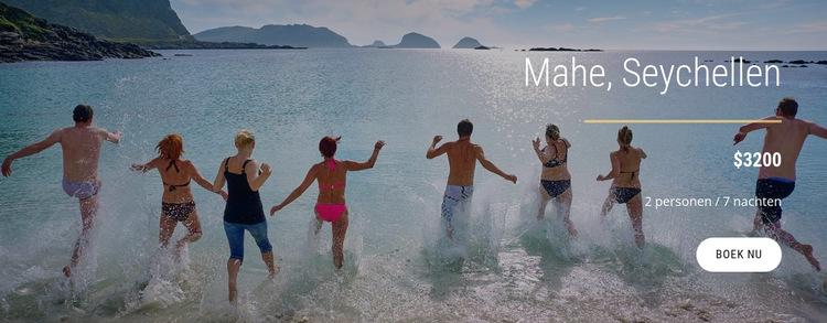 Reis op het eiland Seychellen Website sjabloon
