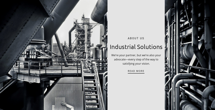 Factory work One Page Template