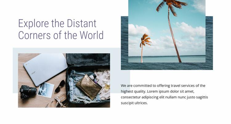 Summer vacations Website Template