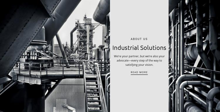 Factory work Website Template