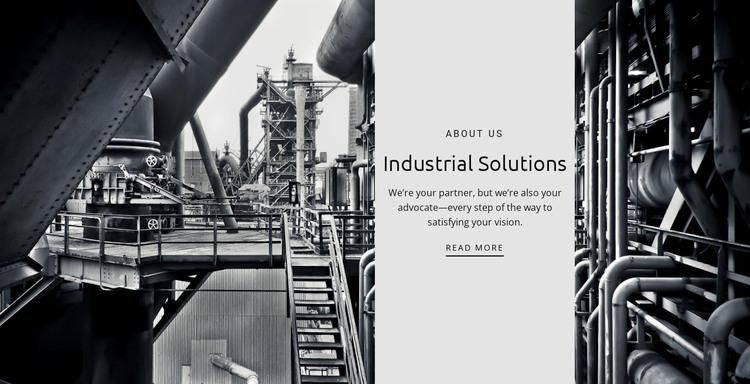 Industrial solutions WordPress Theme