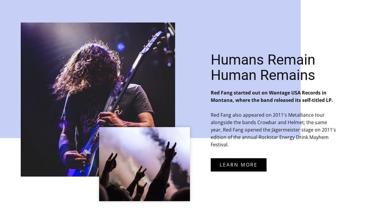 Human remains CSS Template