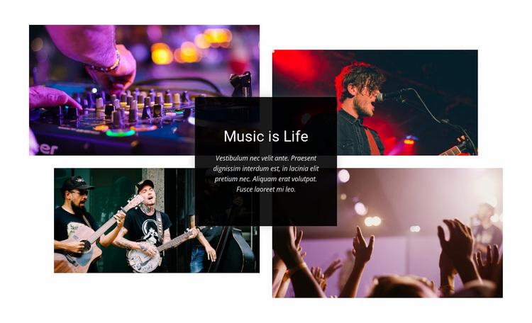 Music Is Life Website Design