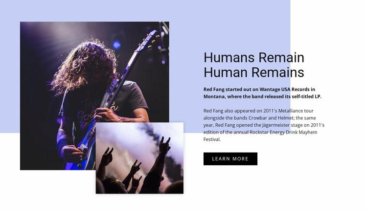 Human remains Landing Page