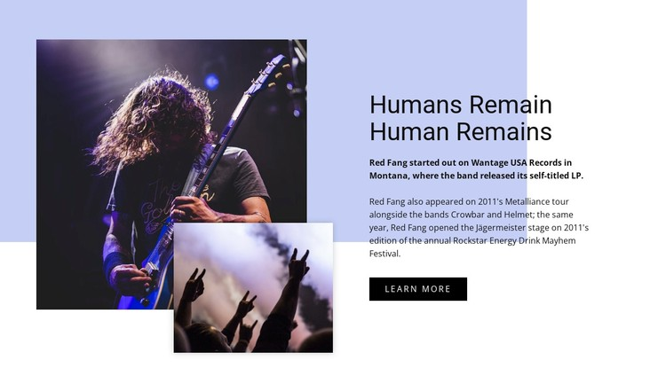 Human remains WordPress Template