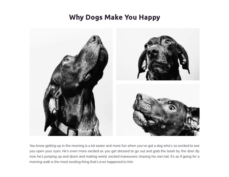 Dogs make us happy HTML Template