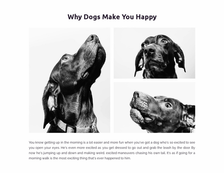 Dogs make us happy Website Template