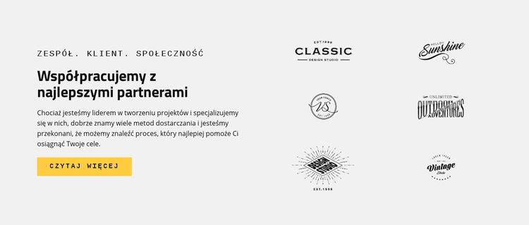 Marki Najlepsi partnerzy Szablon witryny sieci Web