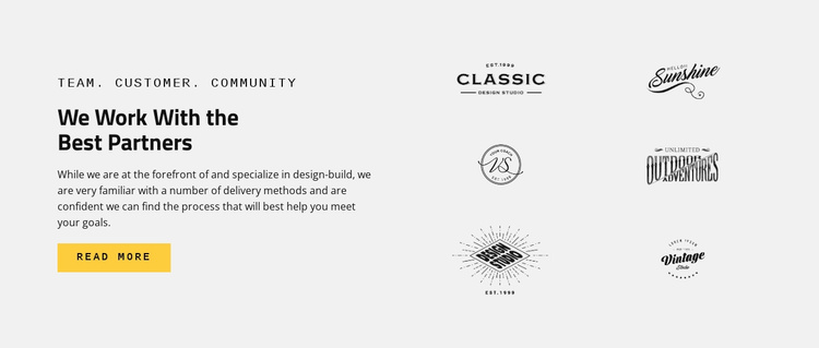 Brands  Best partners Website Template