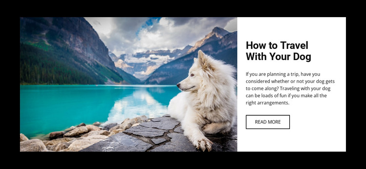 Travel with your dog HTML Template