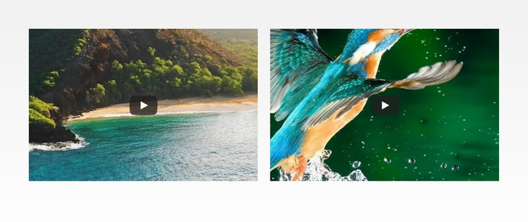 Nature water sea Joomla Page Builder