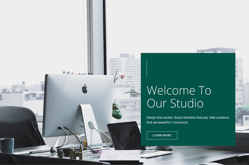Welcome to our Studio Web Page Design