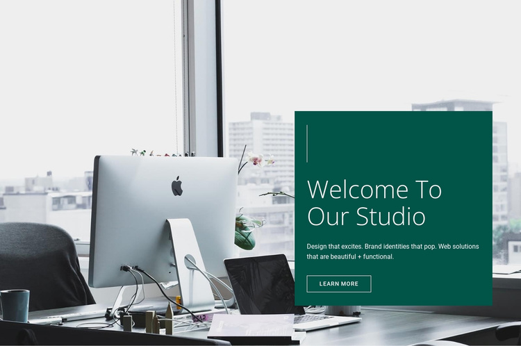 Welcome to our Studio Website Design