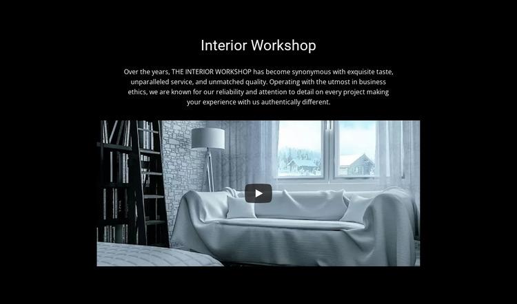 Interior workshop Website Mockup