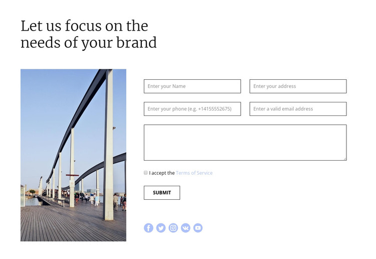 Quick response HTML Template