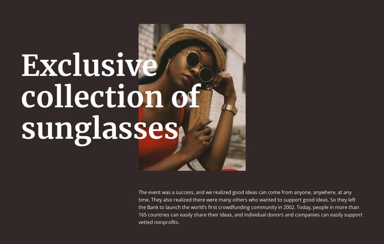 Handmade glasses HTML Template