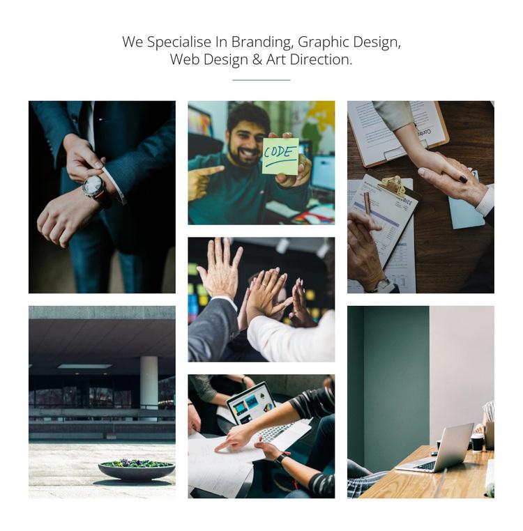 Branding & graphic design Joomla Page Builder