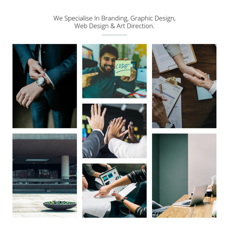 Branding & graphic design Web Page Design