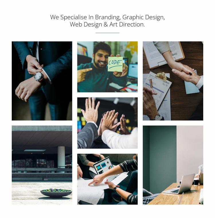 Branding & graphic design Website Mockup
