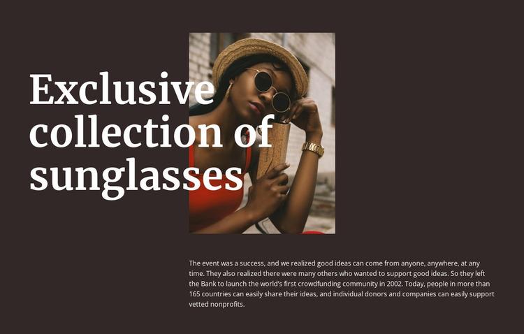 Handmade glasses Website Mockup