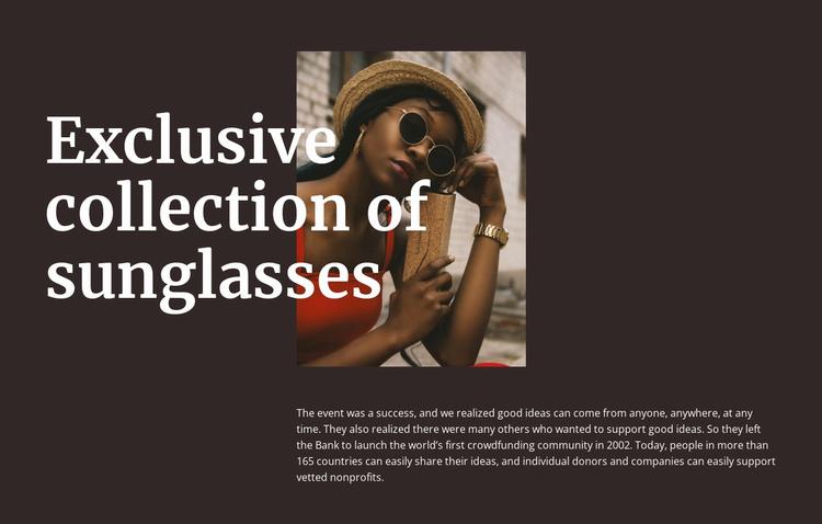 Handmade glasses Website Template
