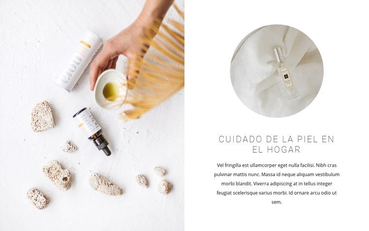 Aceites para el cuidado de la piel Plantilla de sitio web