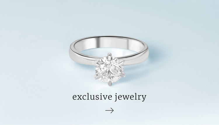 Exclusive rings HTML Template