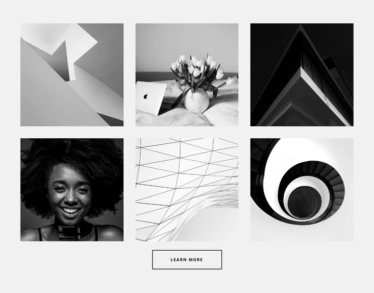 Gallery for six photos One Page Template