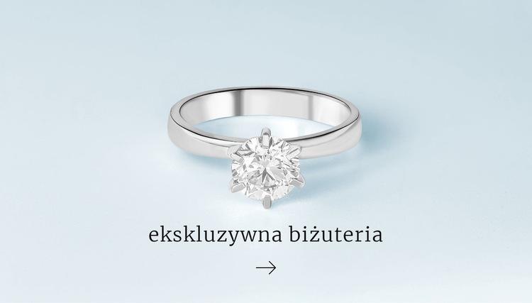 Ekskluzywne pierścionki Szablon witryny sieci Web