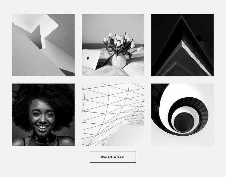 Galeria na sześć zdjęć Szablon witryny sieci Web