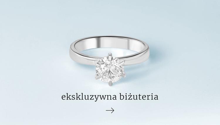 Ekskluzywne pierścionki Szablon Joomla