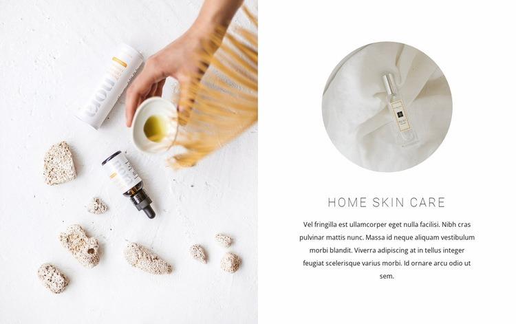 Skin care oils Web Page Design