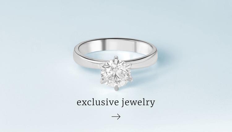 Exclusive rings Website Mockup