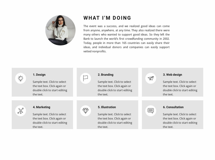 We provide the following work Website Template