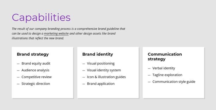 Carabilities Web Page Designer