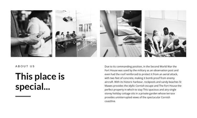 Place special HTML5 Template