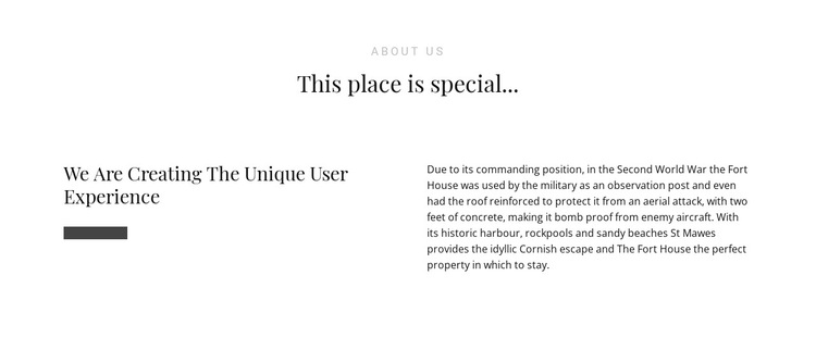 Text About Us HTML5 Template