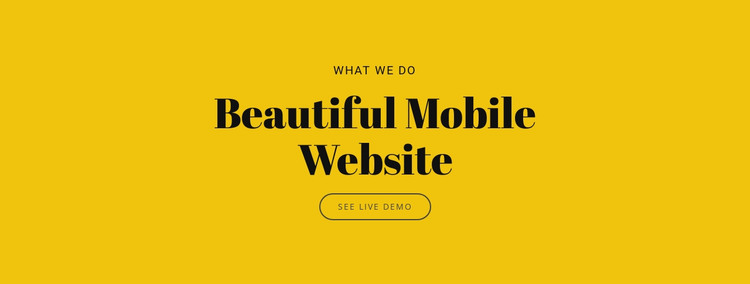 Beautiful Mobile Website HTML Template