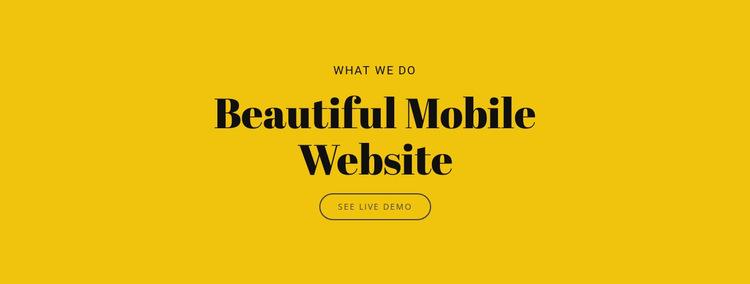Beautiful Mobile Website HTML5 Template