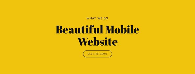 Beautiful Mobile Website Joomla Template