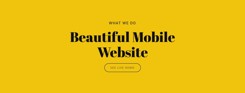Beautiful Mobile Website Web Page Design