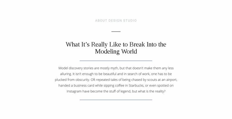 Text break modeling world Web Page Designer