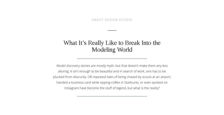 Text break modeling world Website Builder Software