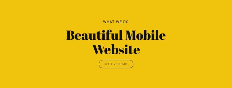Beautiful Mobile Website Landing Page