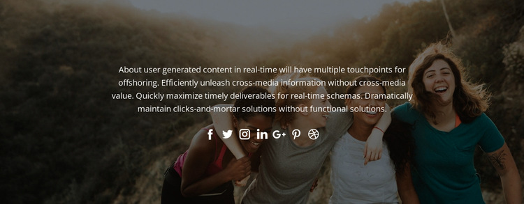 Follow us in social HTML5 Template